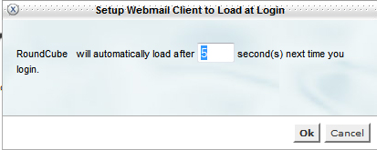 Webmail Timer Popup