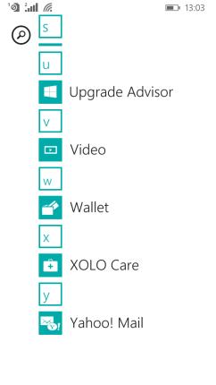 Upgrade Advisor in Apps List